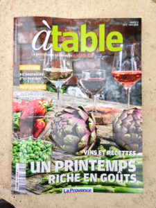 A TABLE la provence avril2018 couv